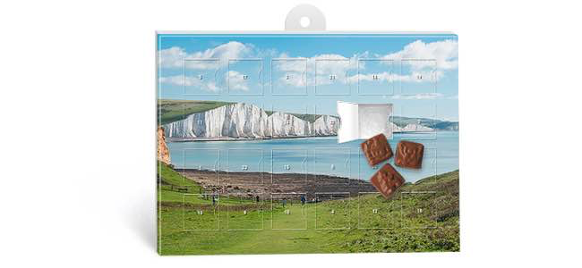 Buy advert calendars with customised printing from Eastbourne Sussex