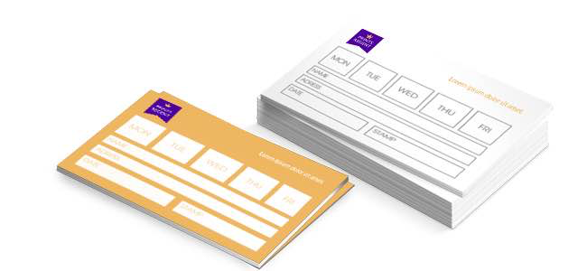 Buy appointment card printing from Eastbourne Sussex