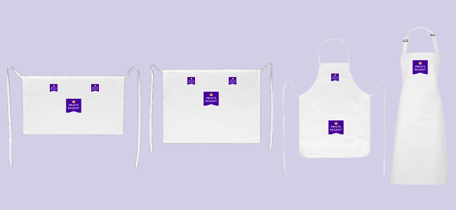 Buy branded apron printing from Eastbourne Sussex