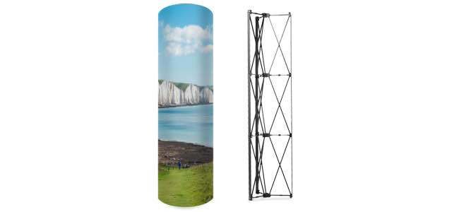 Buy pop-up advertising column tower printing from Eastbourne Sussex